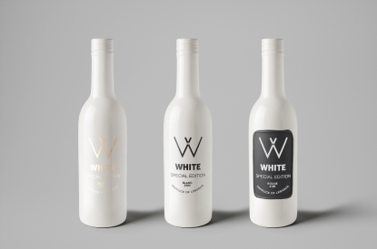 White Ceramic Bottles